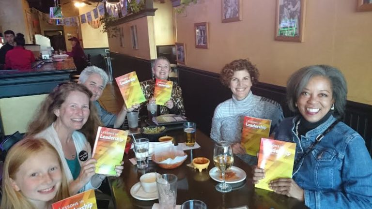 The authors celebrate the arrival of their new books.