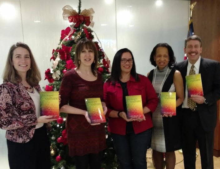 Shown here are DC area authors: Leslie Schreiber, Dawn Cacciotti, Cindy Schuler, Michele Fantt Harris, and Adam Calli.